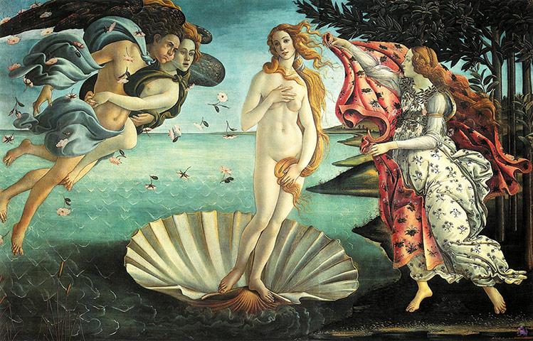 Botticelli – η γέννηση της Αφροδίτης