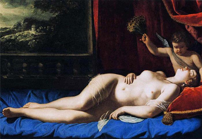 Artemisia Gentileschi – Αφροδίτη κοιμωμένη