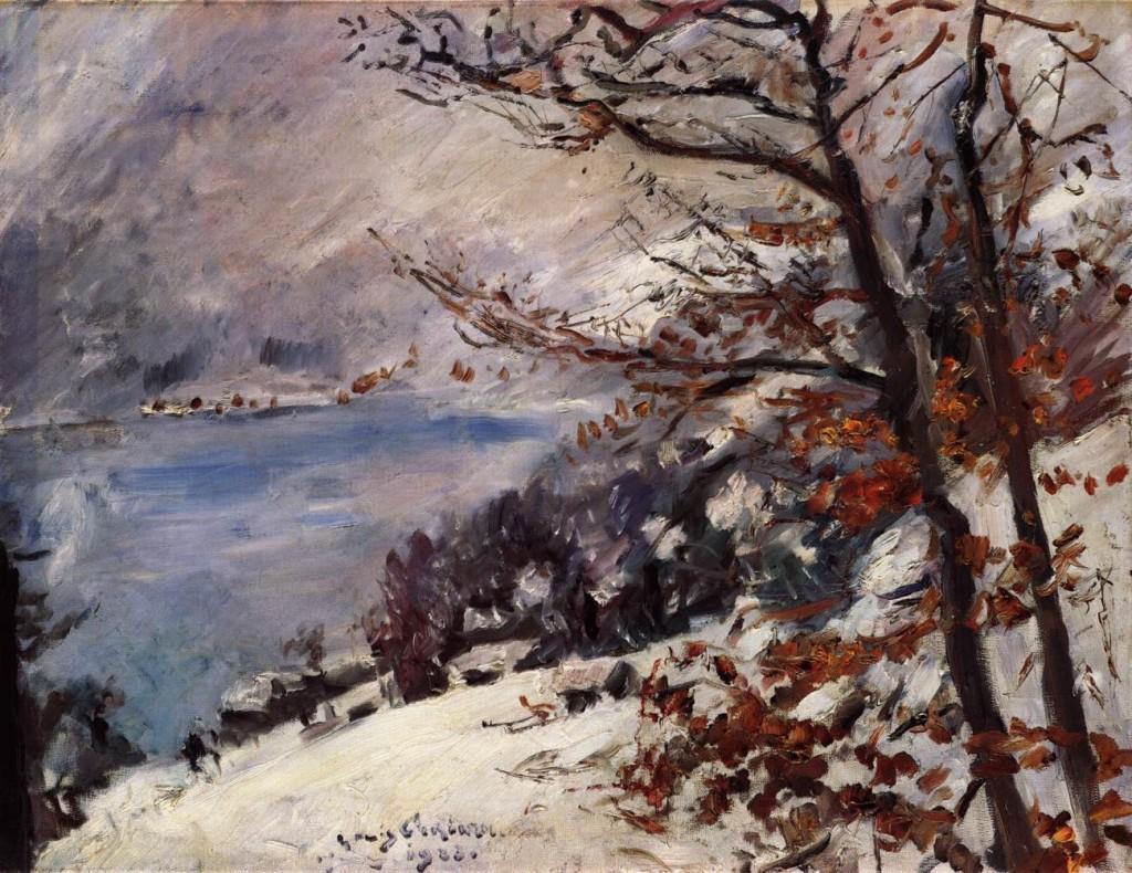 Lovis CORINTH Η Walchensee το χειμώνα 1923