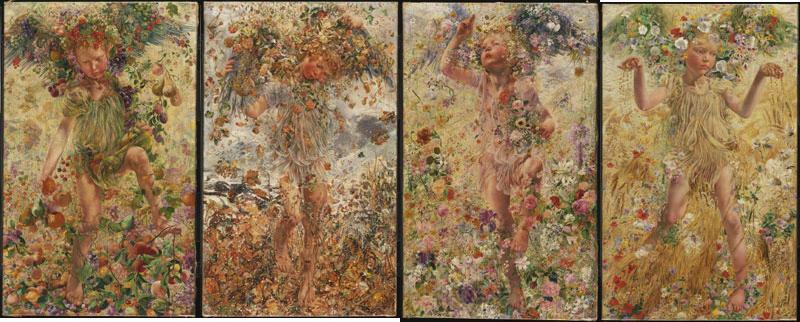 Four Seasons Painting Philadelphia Museum Art