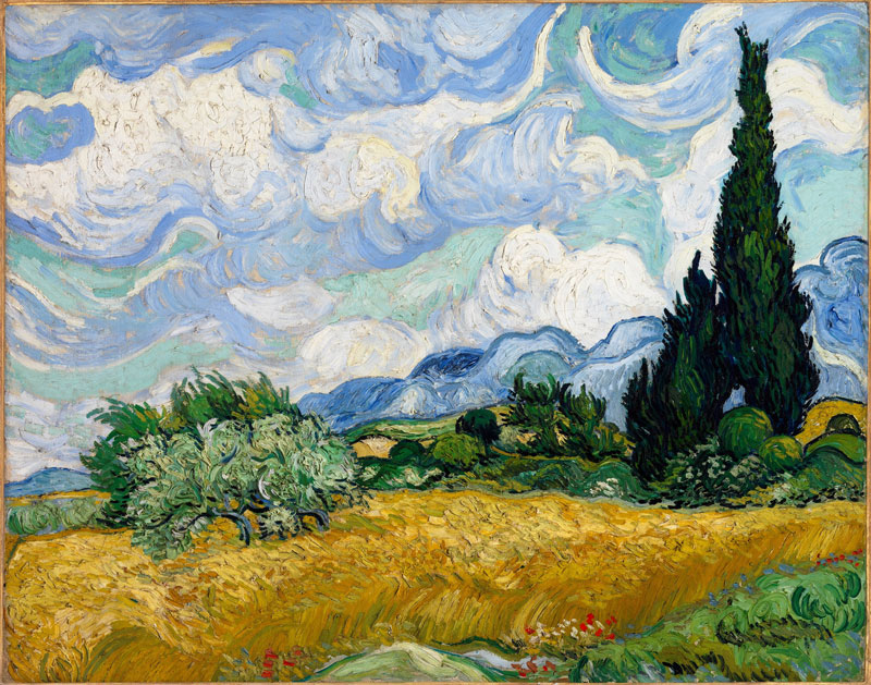 Wheat Field with Cypresses – 1889