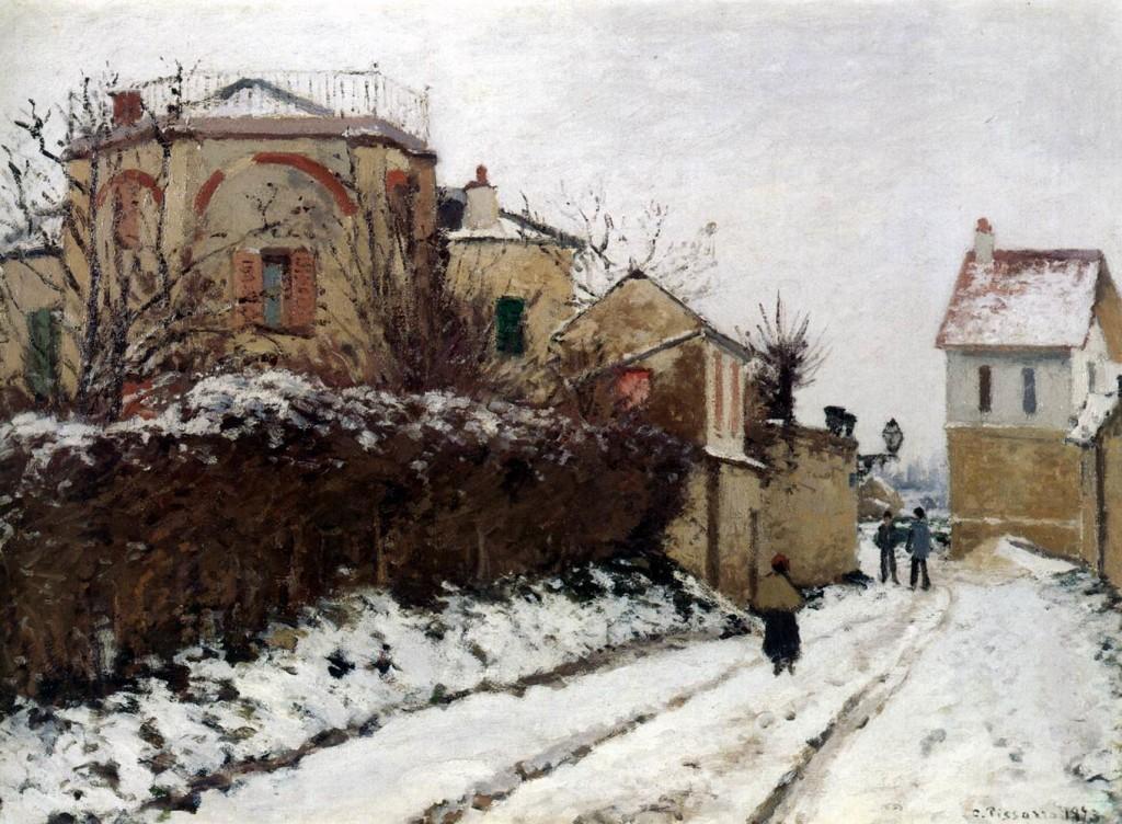 Camille PISSARRO, δρόμος στην Pontoise το χειμώνα 1873
