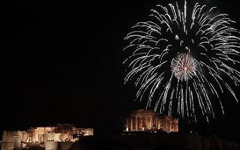 Πυροτεχνήματα στην Ακρόπολη