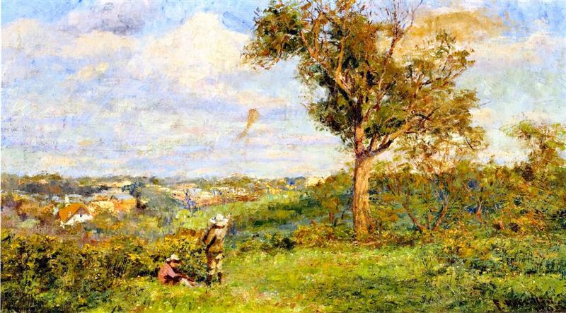 αγόρι πετάει χαρταετό Frederick McCubbin - 1909