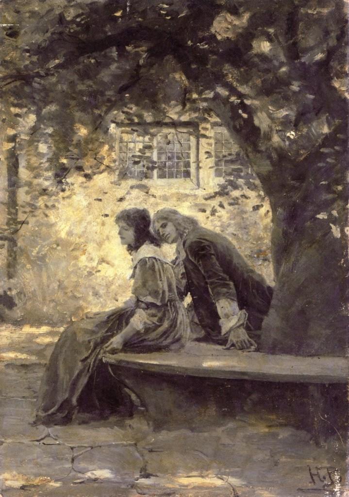 Howard Pyle - Δυο ερωτευμένοι σ έναν κήπο