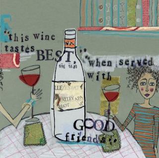Κρασί και παρέα με φίλους