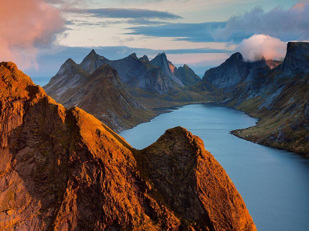 Πανοραμική θέα από τα νησιά Lofoten στη Νορβηγία.