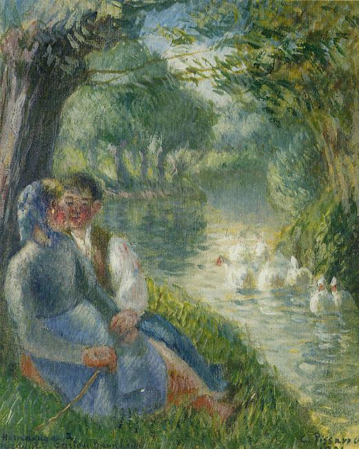 Camille Pissarro - 1901 -Εραστές καθισμένοι στη σκιά του δέντρου