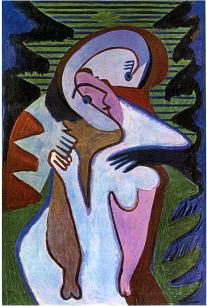 Ernst Ludwig Kirchner -1930- Ερωτευμένοι (Το φιλί)