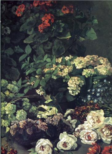 Ανοιξιάτικα λουλούδια Claude Monet 1864