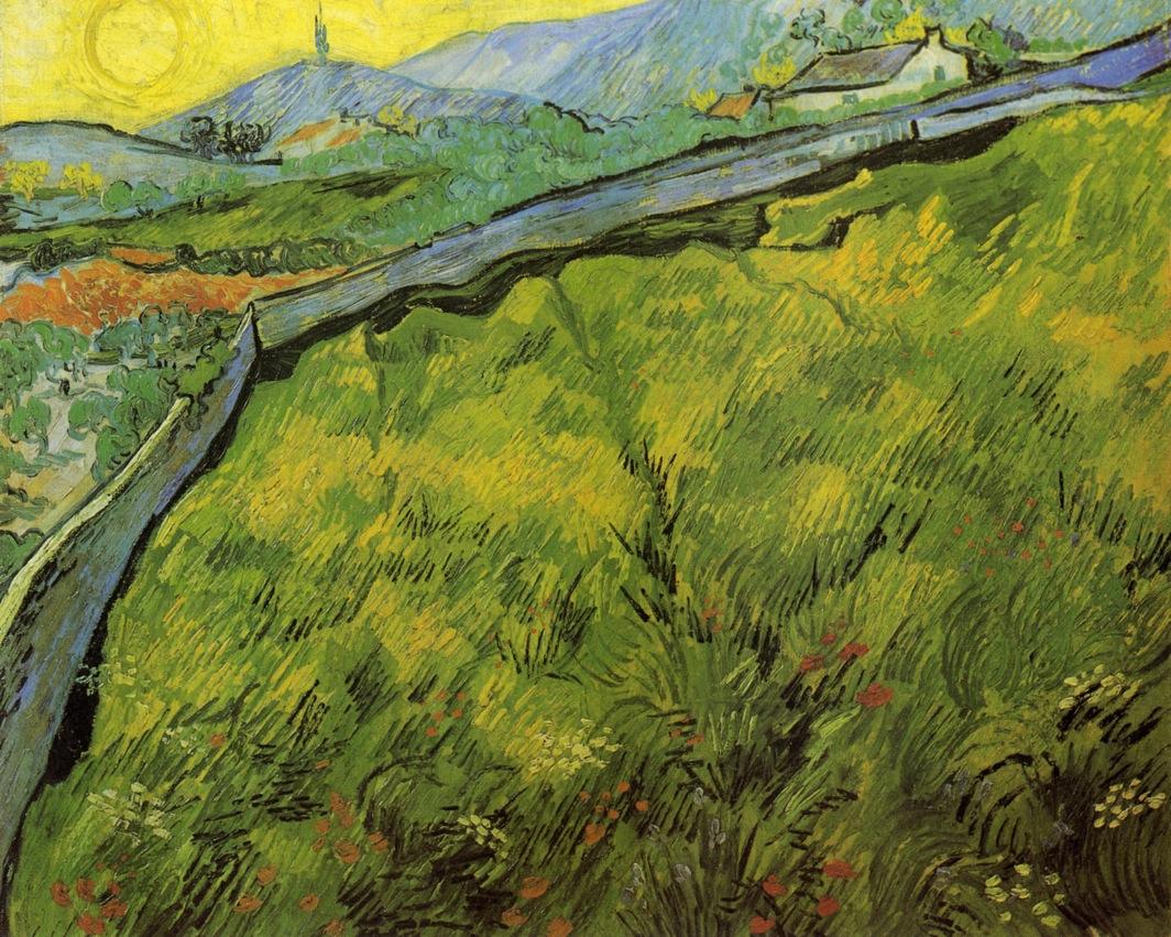 η ανατολή σε χωράφι με σιτάρι την άνοιξη - Vincent van Gogh - 1889