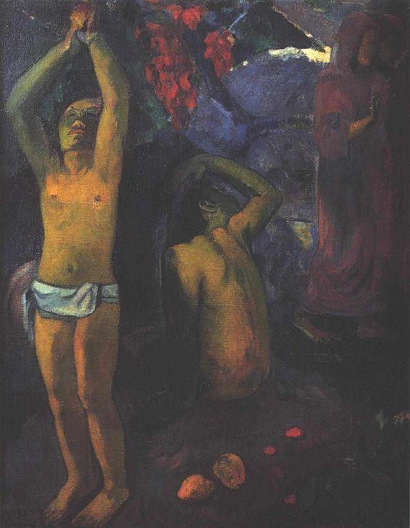 Gauguin_-_Tahitischer_Mann_mit_erhobenen_Armen_-_1897