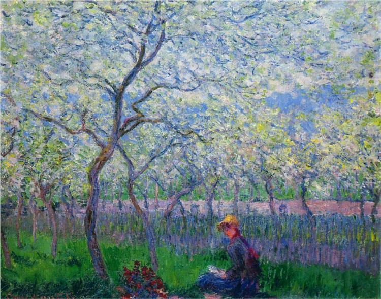 περιβόλι την άνοιξη Claude Monet 1886