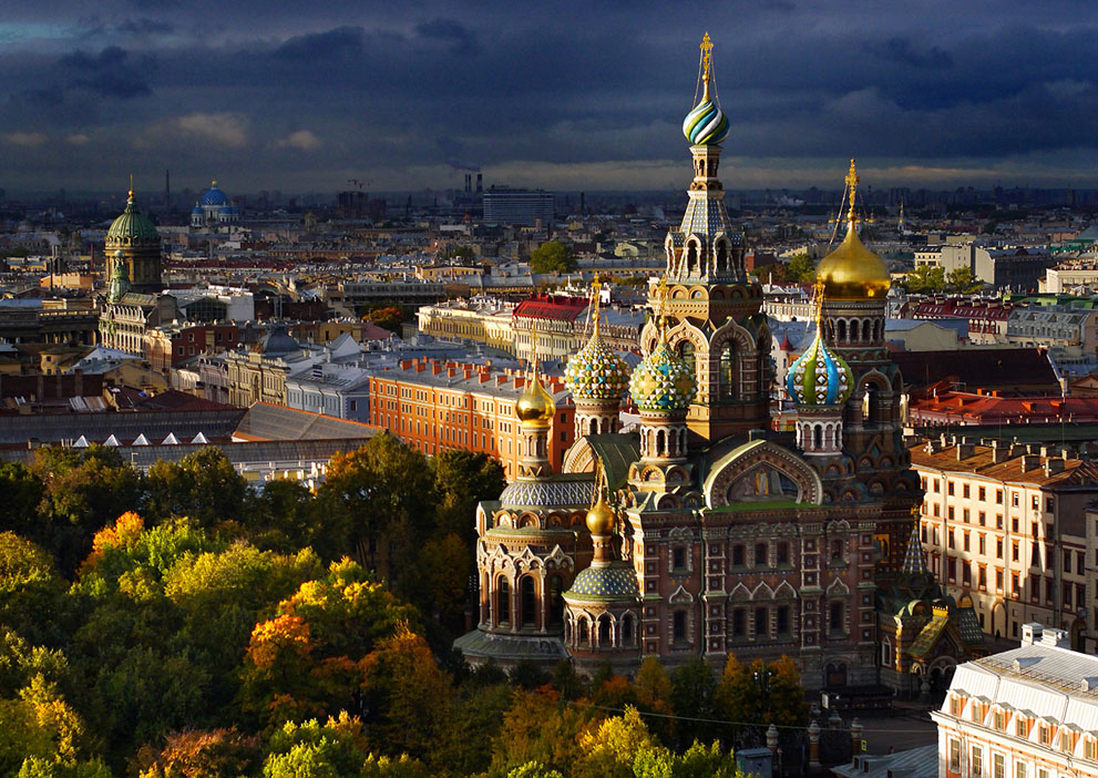 Η εκκλησία Savior (Σωτήρα) στην Αγία Πετρούπολη της Ρωσίας .