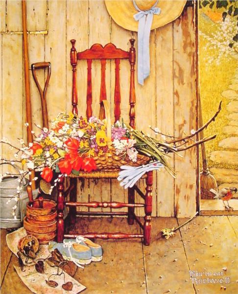 Ανοιξιάτικα λουλούδια Norman Rockwell 1969