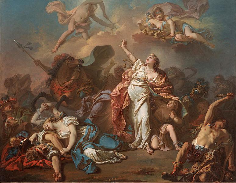 «Η φόνευση των παιδιών της Νιόβης από την Αρτέμιδα και τον Απόλλωνα», -Ζακ-Λουί Νταβίντ