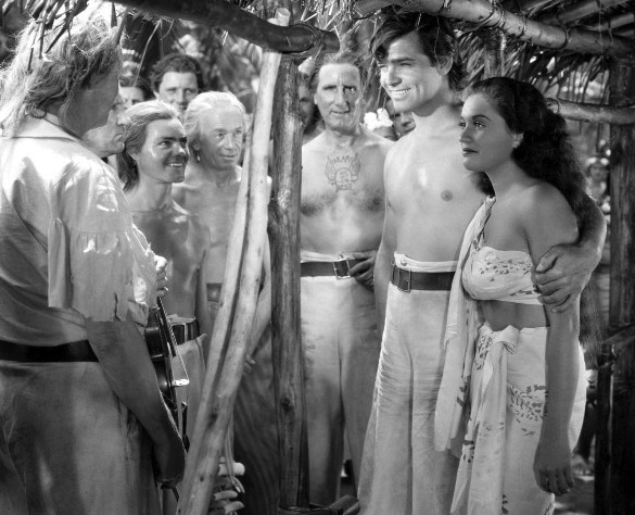 Clark-Gable-Mamo-Clark-and-Eddie-Quillan-center-left-Mutiny-On-The-Bounty-1935