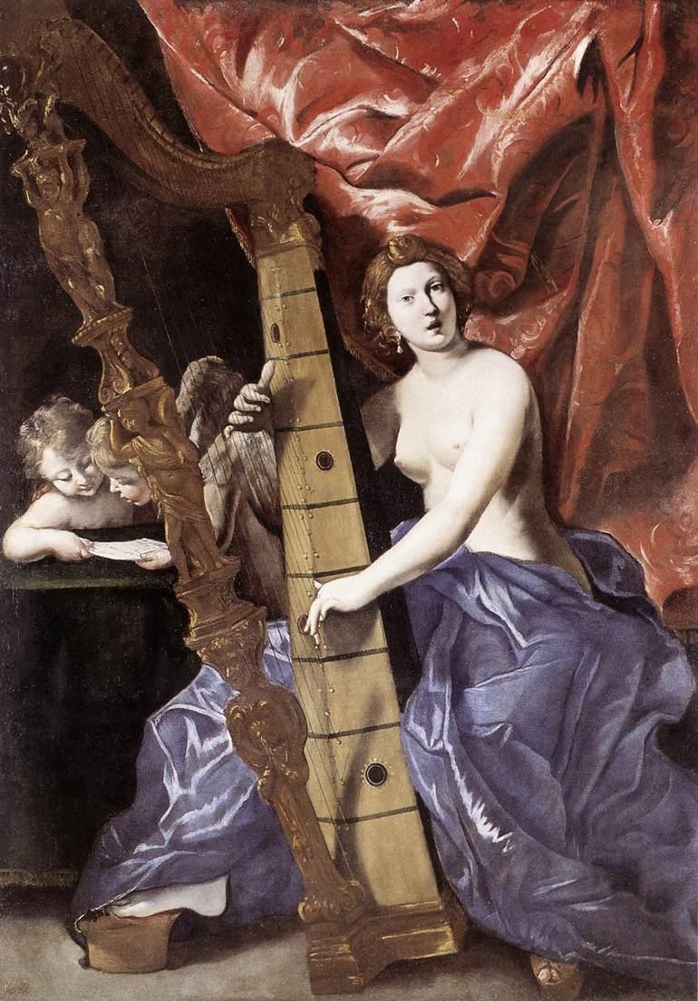 Η Αφροδίτη παίζει άρπα -Giovanni Lanfranco