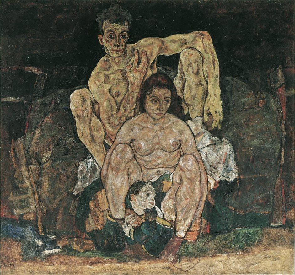 Η Οικογένεια (Αυτοπροσωπογραφία), 1918 (λεπτομέρεια) - Egon Schiele