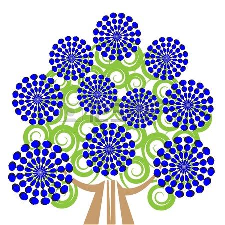 12370433-blue-blossom-tree