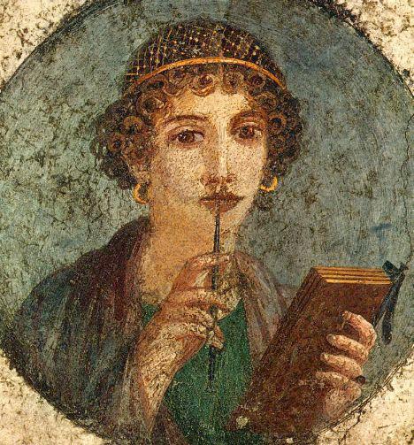 Ποίηση της Σαπφούς σε απόδοση του Οδυσσέα Ελύτη.