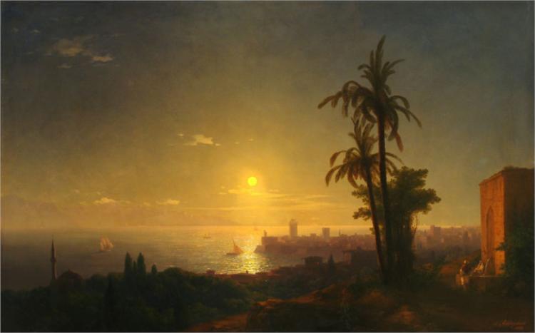 Νύχτα στη Ρόδο - Ivan Aivazovsky 1850