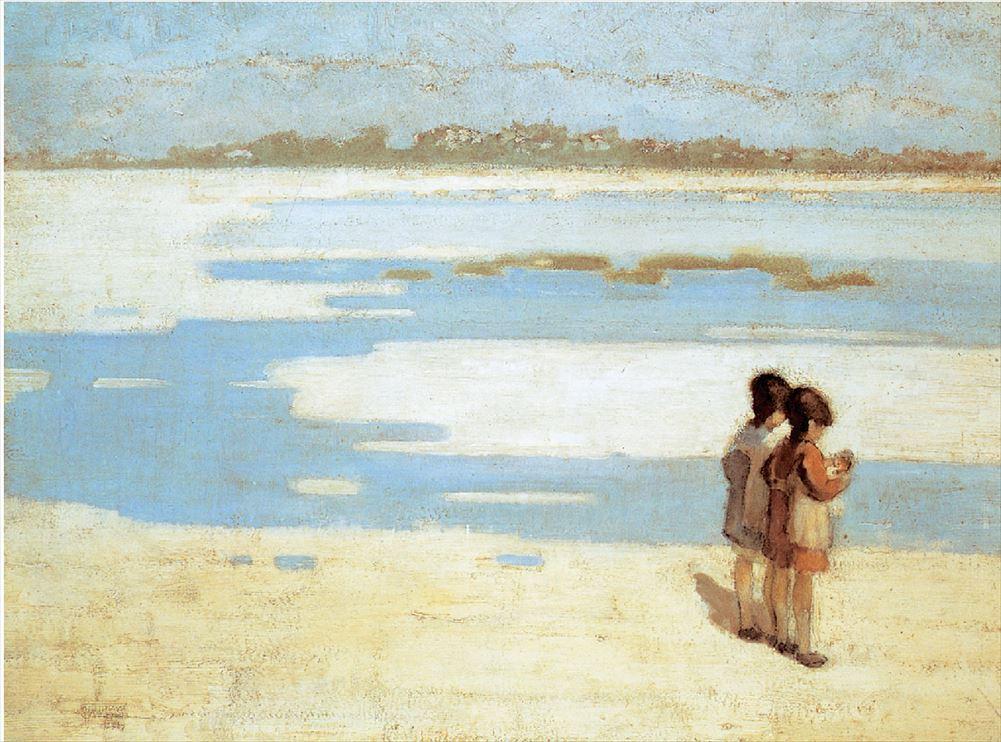 Θεόφραστος Τριανταφυλλίδης, «Δυο παιδιά στην παραλία»,1919, Εθνική Πινακοθήκη