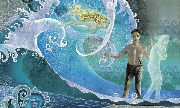 """detail from an illustratin of """"The Fisherman and His Soul"""" by Oscar Wilde"""