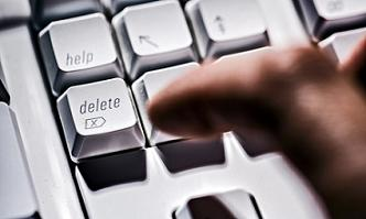 erase history delete button