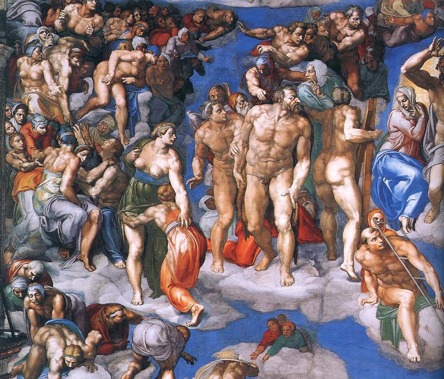 """Λεπτομέρεια από την """"Ημέρα της Κρίσης"""", Βατικανό 1537-1541"""