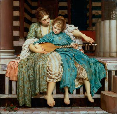 Frederic Leighton, Music Lesson (Μάθημα Μουσικής), 1877, Guild Hall Art Gallery, Λονδίνο