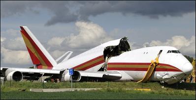 κατεστραμμένο αεροπλάνο