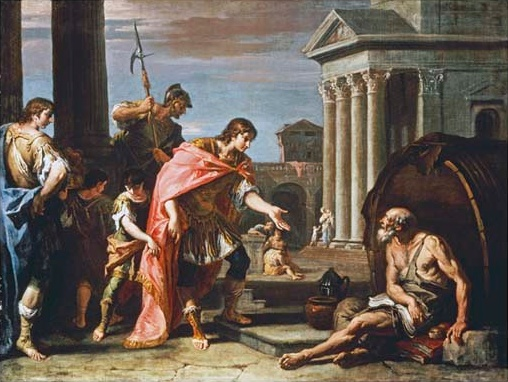 Alexander And Diogenes.  Sebastiano Ricci (1659-1734).  Oil On Canvas.