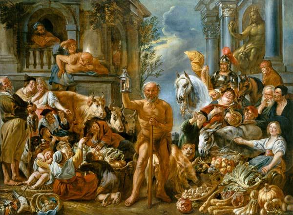 Ο Διογένης ψάχνει για έναν άνθρωπο - Jacob Jordaens - 1642