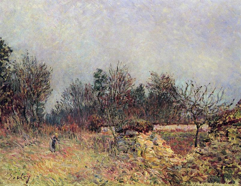 Δεκέμβριος στην άκρη του δάσους -Alfred Sisley - 1886
