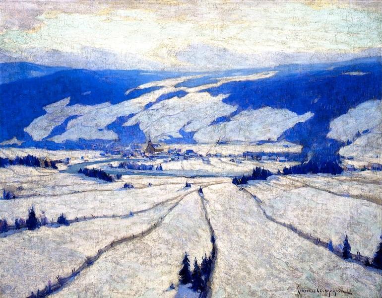 Η Κοιλάδα του Δεκεμβρίου - Clarence Gagnon - μεταξύ 1908-1913