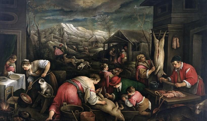 η σειρά των Μηνών-   12ος Δεκέμβριος (Αιγόκερως) - Francesco Bassano ο νεότερος
