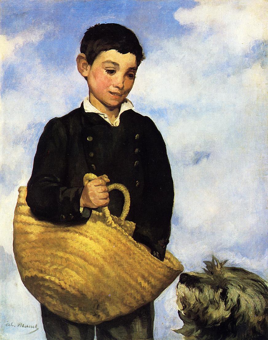 αγόρι με το σκύλο του Édouard Manet - 1860-1861
