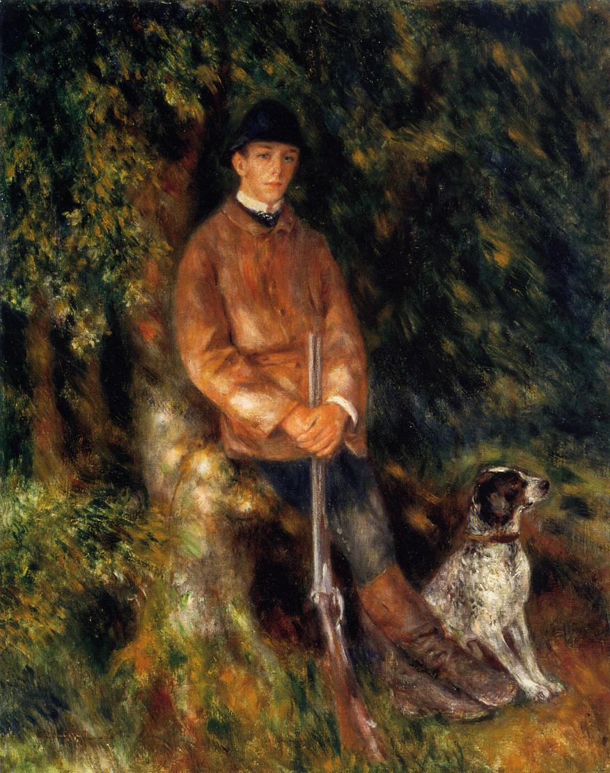 ο Alfred Berard και ο σκύλος του - Pierre Auguste Renoir - 1881
