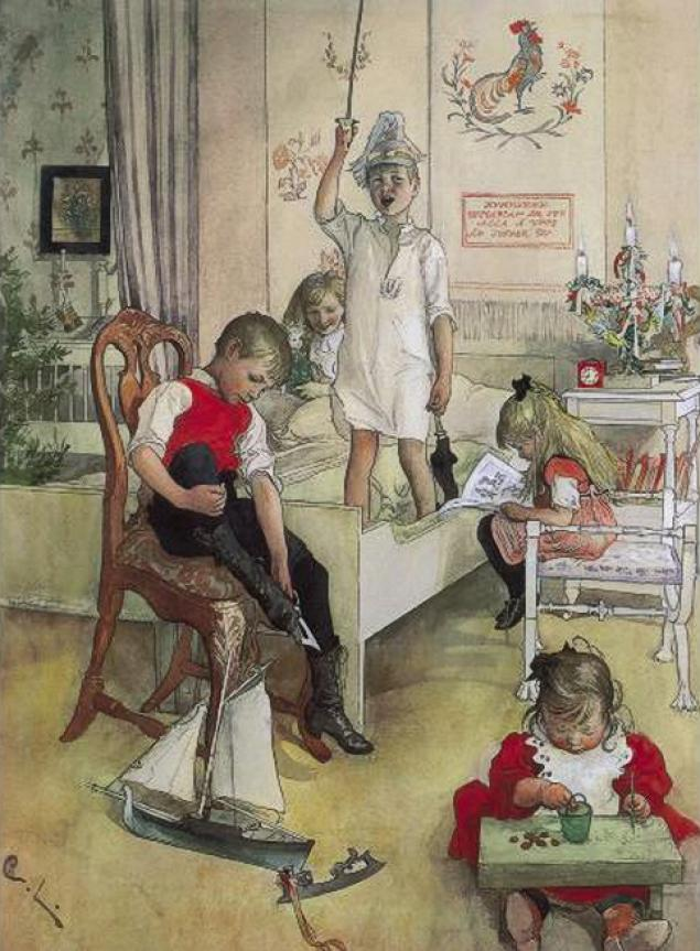 Το πρωινό των Χριστουγέννων - Καρλ Λάρσον - 1894