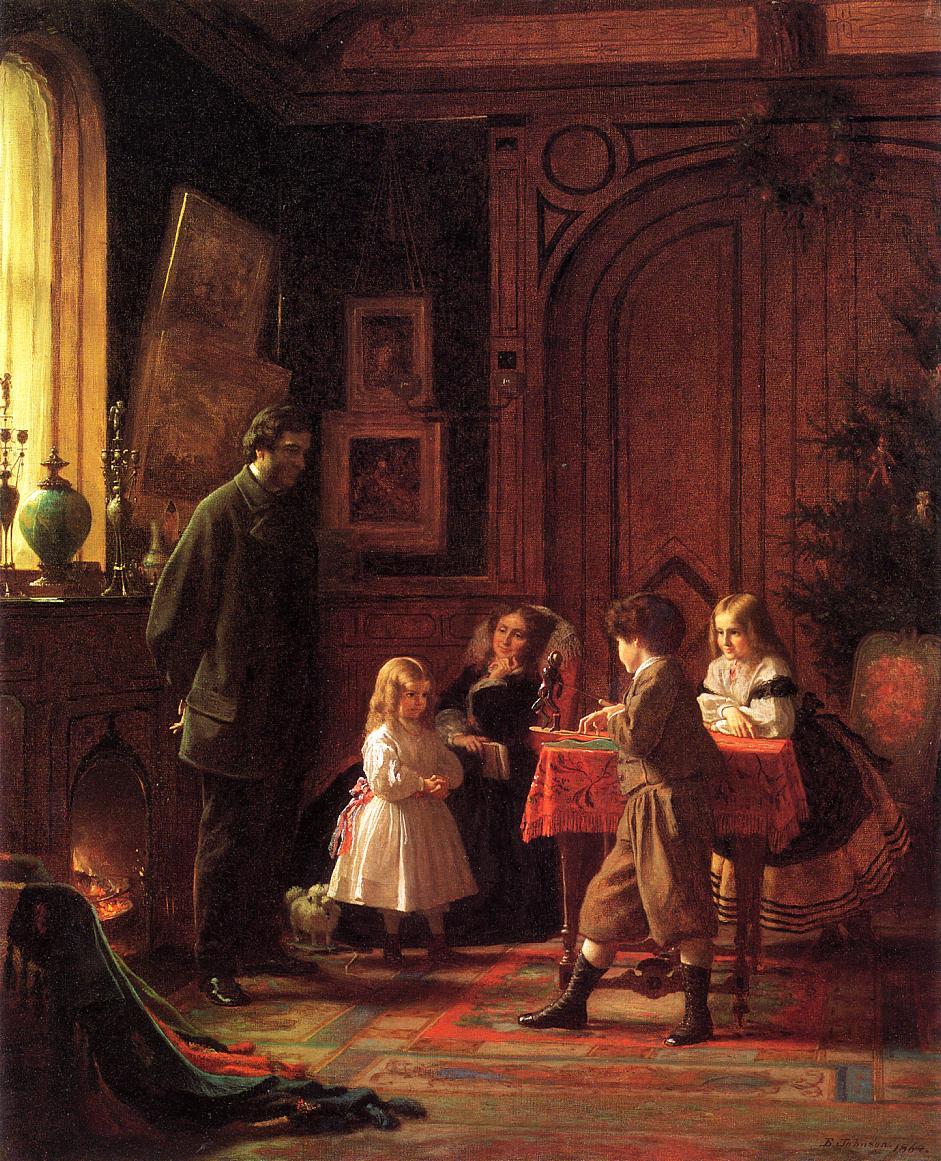 Χριστουγεννιάτικη ώρα -Eastman Johnson - 1864