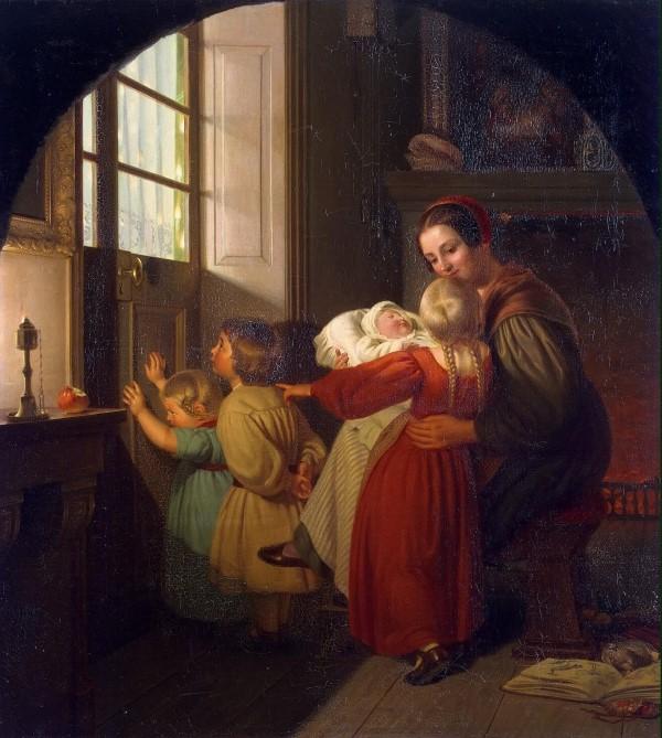 Τα παιδιά προσμένουν τη γιορτή - Theodor Hildebrandt
