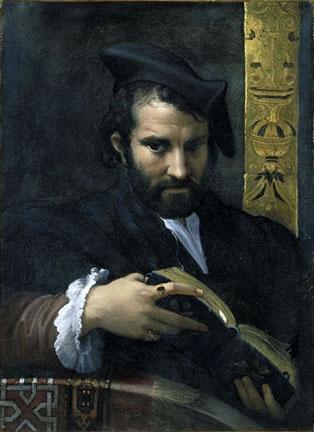 Πορτρέτο ενός άνδρα με ένα βιβλίο- Parmigianino