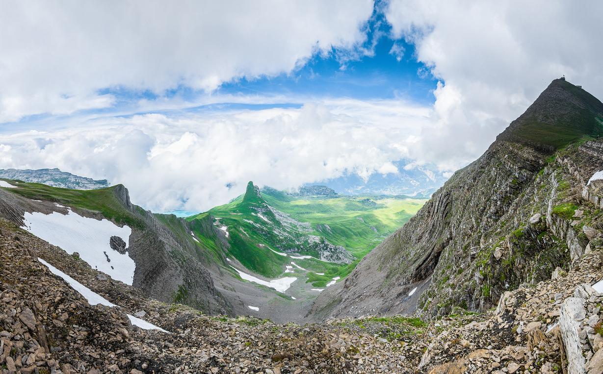 Φωτογραφία από τις ελβετικές Άλπεις, κοντά στην κορυφή του Faulhorn
