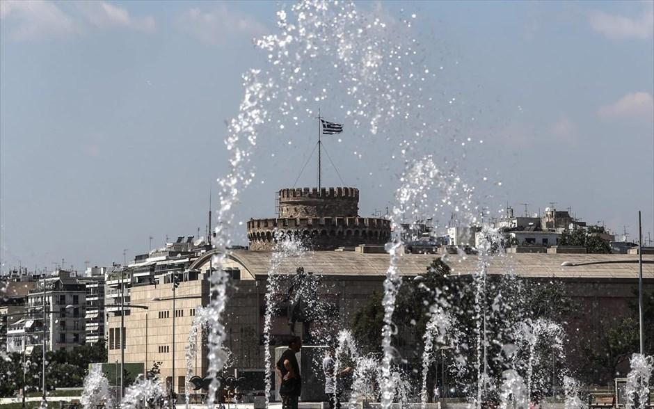 Καλοκαιρινό στιγμιότυπο από τη Θεσσαλονίκη.