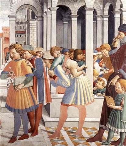 Benozzo Gozzoli, Η Σχολή της Tagaste (λεπτομέρεια) 1464-65