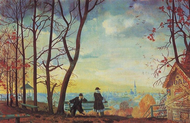 Φθινόπωρο Boris Kustodiev 1918
