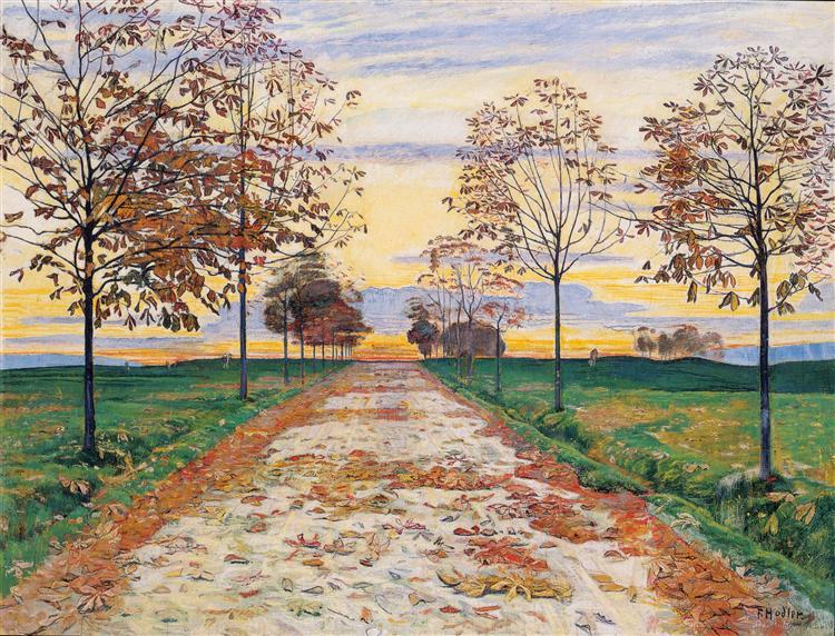 Φθινοπωρινή νύχτα Ferdinand Hodler 1892