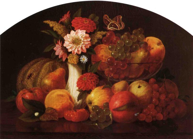 Λουλούδια και Φρούτα του Σεπτεμβρίου William M. Davis - 1861