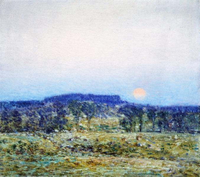 Ανατολή φεγγαριού το Σεπτέμβρη -Childe Hassam 1900